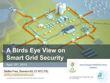 Securing the Smart Grid – A bird's eye view on ... - FINSENY
