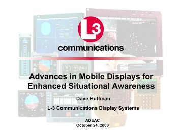 Advances in Mobile Displays for Enhanced Situational ... - SID
