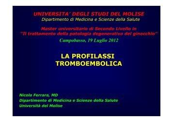 LA PROFILASSI TROMBOEMBOLICA - Università degli Studi del ...