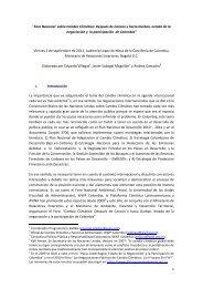 Foro Nacional sobre Cambio Climático: Después de ... - FES Ecuador
