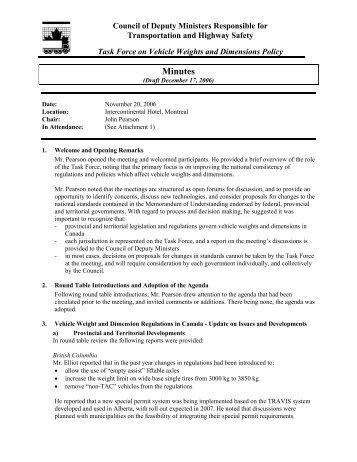 Minutes - Council of Ministers & Deputy Ministers