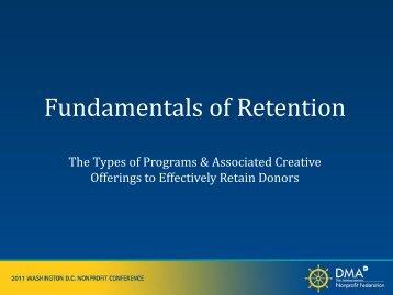 Fundamentals of Retention