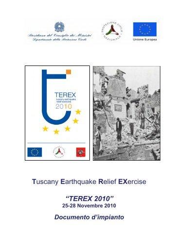 TEREX 2010 - Dipartimento della Protezione Civile