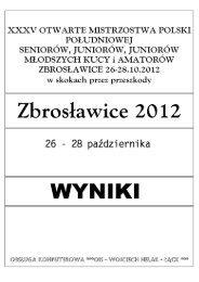 MP Południowej Zbrosławice, 26-28.10.2012 - Koń Polski