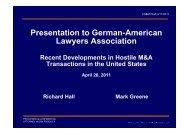 Presentation to German-American Lawyers Association