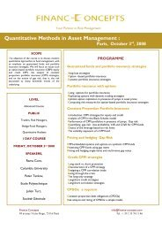 Quantitative Methods in Asset Management : - Finance Concepts