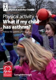 Physical activity – What if my child has asthma? - BHF National ...