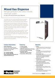 Mixed Gas Dispense - regula servis