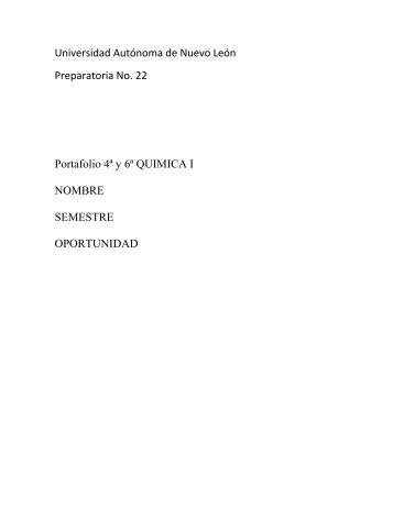Universidad Autónoma de Nuevo León Preparatoria No. 22 ...