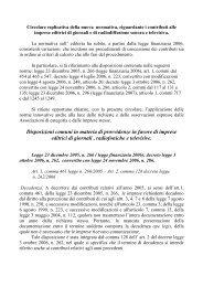 Applicazione nuove norme in materia di contributi - Legacoop ...