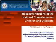 National Commission on Children and Disasters Final ...