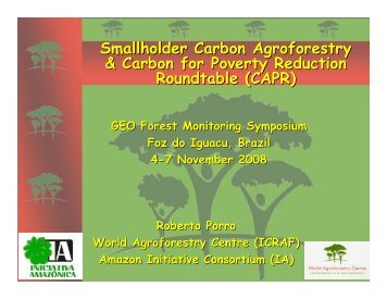 Smallholder Carbon Agroforestry & Carbon for Poverty ... - DPI