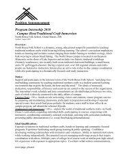 Position Announcement Program Internship 2010 Campus Host ...