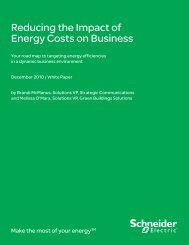 Reducing the Impact of Energy Costs on Business - Schneider Electric
