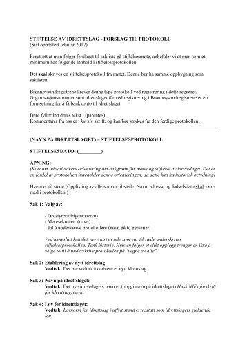 Protokoll - Norges idrettsforbund