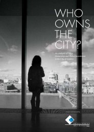Who Owns The City? - Development Securities PLC