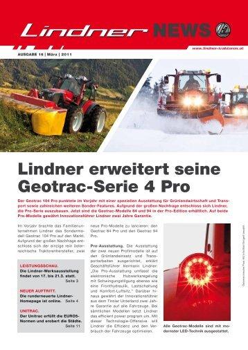 Lindner News März 2011 - Lindner Traktoren