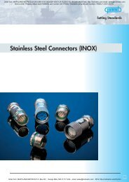 Stainless Steel Connectors (INOX) - Maryland Metrics