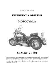 instrukcja obsługi motocykla suzuki vl 800 - Suzuki Motor Poland