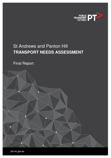 St Andrews and Panton Hill: Transport Needs Assessment - Public ...