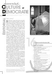 Journal 16 - Culture & Démocratie
