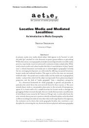 Locative Media and Mediated Localities - California Geographical ...
