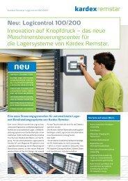 Neu: Logicontrol 100/200 Innovation auf ... - Kardex Remstar