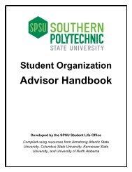 Advisor Handbook - Southern Polytechnic State University
