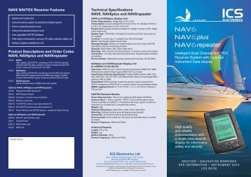 NAV6 Series Leaflet (Printable) - ICS Electronics Ltd