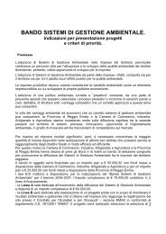 BANDO Reggio Emilia - Impronta Etica
