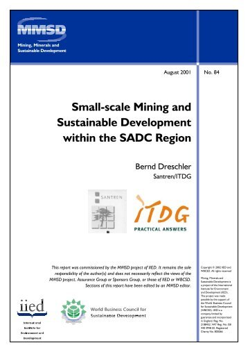 Small-scale Mining and Sustainable Development ... - CommDev