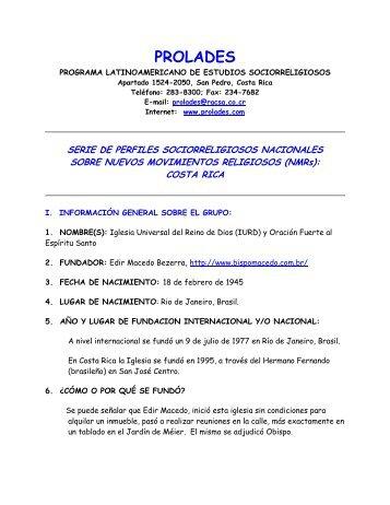 Iglesia Universal del Reino de Dios - Prolades.com
