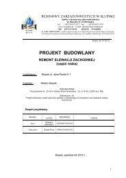 Projekt Budowlany - remont elewacji zachodniej - rzislupsk.pl