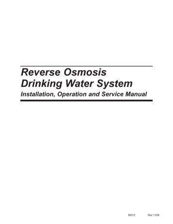 Reverse Osmosis Drinking Water System - Filters Fast
