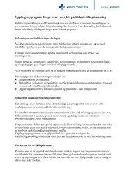 Lett utviklingshemming, beskrivelse av programmet - Vestre Viken HF