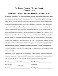 Waiver of Liability Form - St. Louis County