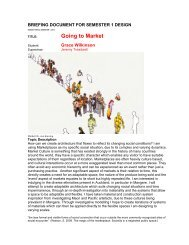 Going to Market - MArch(Prof) 2013ThesisWork