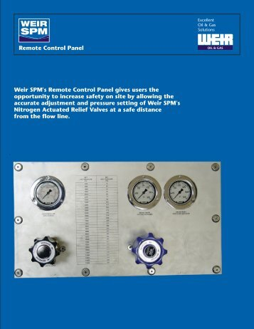 remote control panel flyer - front - Weir Oil & Gas Division