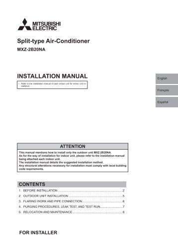 INSTALLATION MANUAL Split-type Air-Conditioner