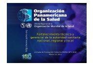 Fortalecimiento técnico y gerencial de la autoridad sanitaria ...