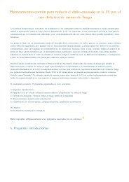 Planteamiento común para reducir el daño causado en la ... - Europa