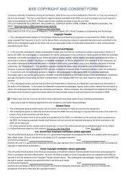 ieee copyright and consent form - Engineering Information Institute