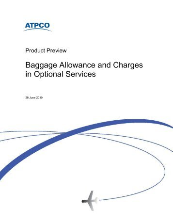 Baggage Allowance And Charges In Optional Services - atpco