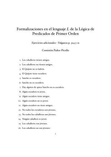 Formalización en el Lenguaje de LPO