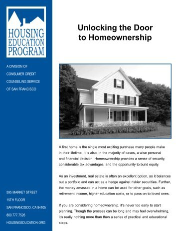Unlocking the Door to Homeownership - City of Mission Viejo