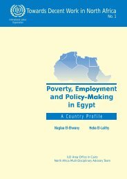 Poverty, Employment E and Policy-Making in Egypt - The American ...