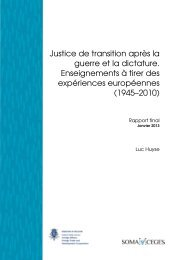 Rapport Final - Centre for Historical Research and Documentation ...