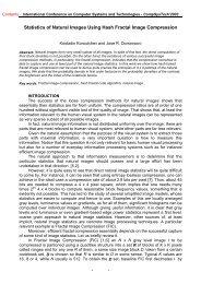 Statistics of Natural Images Using Hash Fractal Image ... - Ecet
