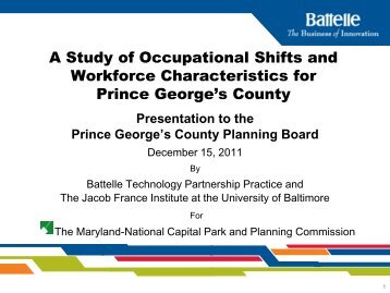 2. Promote industry cluster development - Prince George's County ...