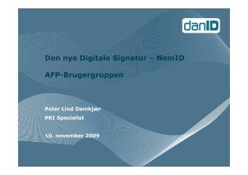 Den nye Digitale Signatur – NemID AFP-Brugergruppen